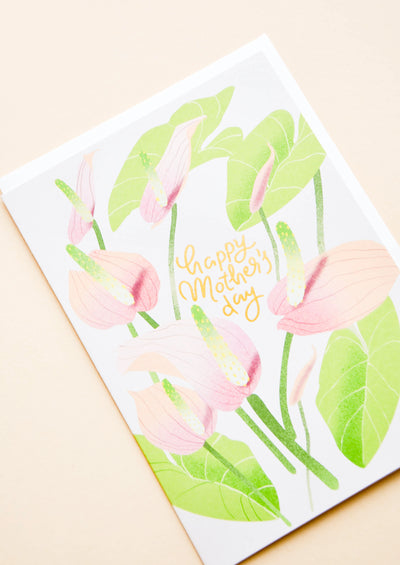 Anthurium Mother's Day Card