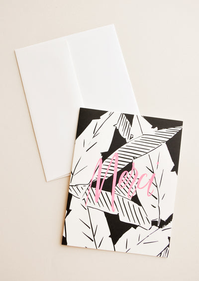 Palm Leaves Merci Card