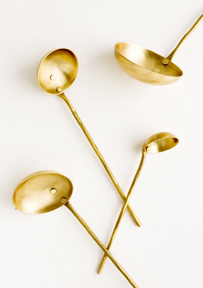 Ornate Brass Ladle Set