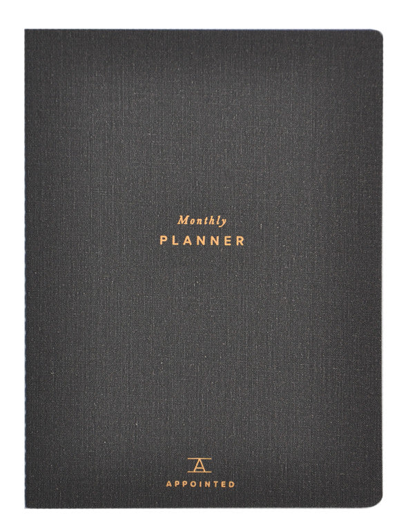 Charcoal: Perpetual Monthly Planner in Charcoal - LEIF