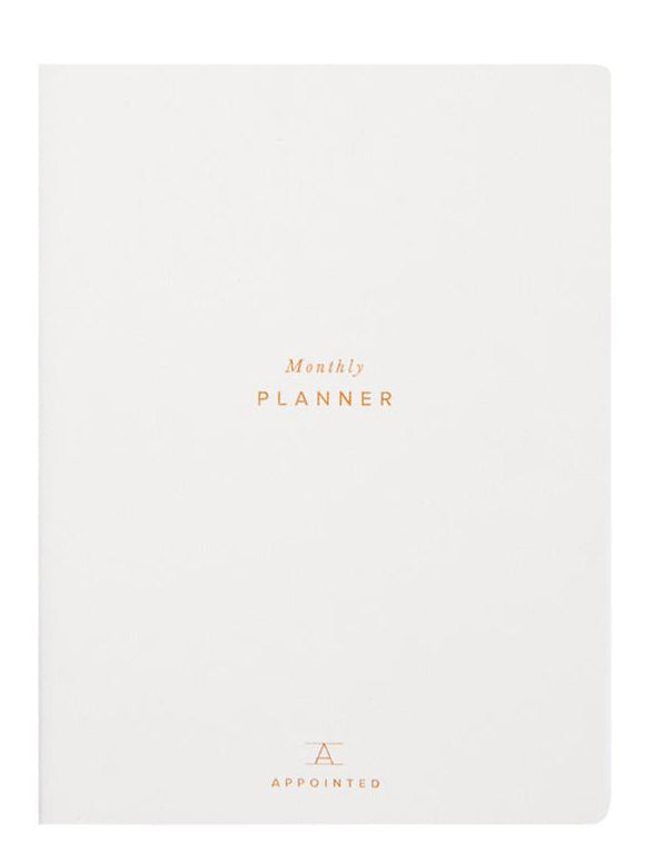 Canvas White: Perpetual Monthly Planner in Canvas White - LEIF