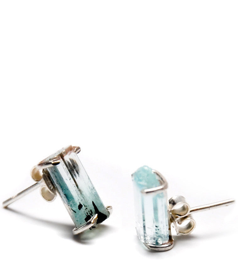 Aquamarine Bar Earrings - LEIF