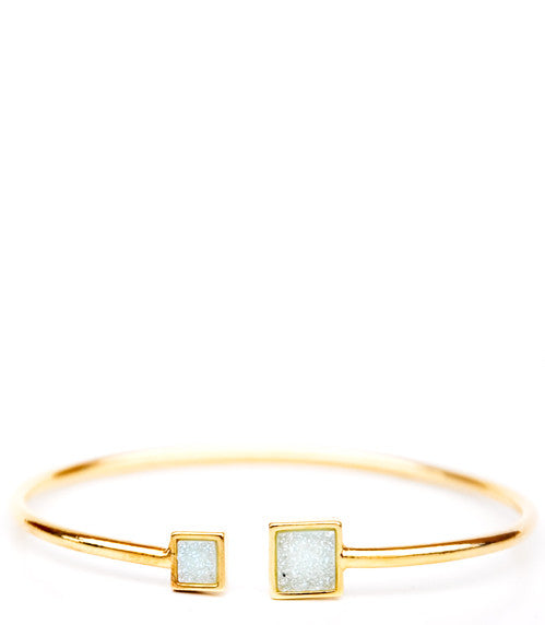 Square Drusy Cuff Bracelet - LEIF