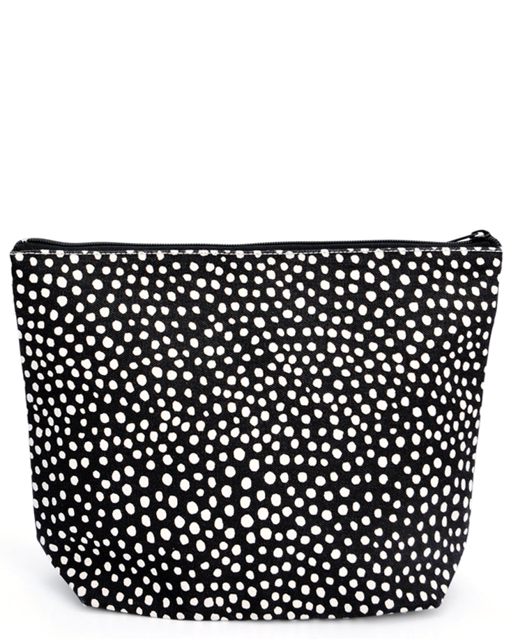 Spots / Large: Art Canvas Zip Pouch in Spots / Large - LEIF