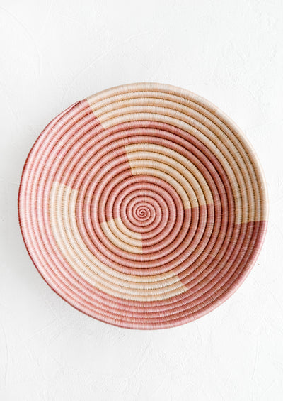 Arthouse Rose Sweetgrass Basket