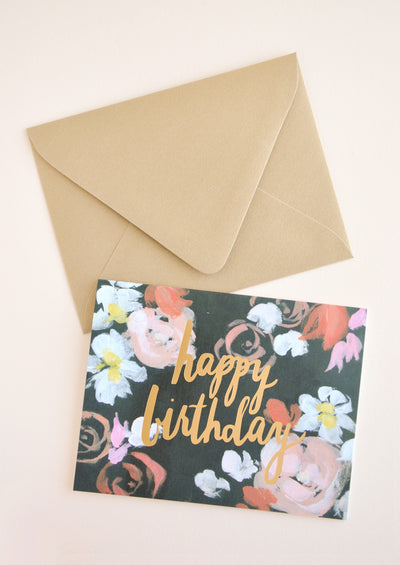 Artist Floral Birthday Card