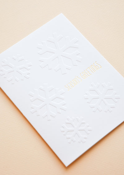 Season's Greetings Snowflakes Card hover