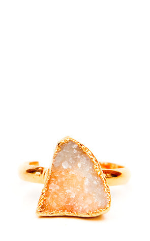 Asymmetry Drusy Ring