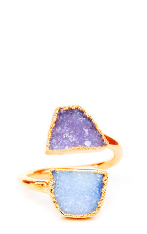 Double Drusy Ring
