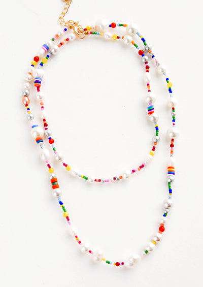 Athena Pearl Mix Long Necklace