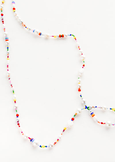 Athena Pearl Mix Long Necklace hover