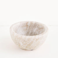 Tan: Small marble bowl made from solid grey/tan colored marble