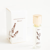 "Monet: All natural perfume in glass bottle with botanical label in ""Monet"" scent"