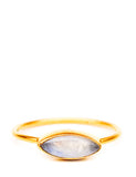 Avaline Ring in Rainbow Moonstone - LEIF