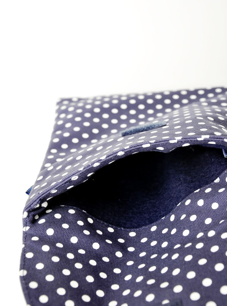 Navy Dot iPad Case