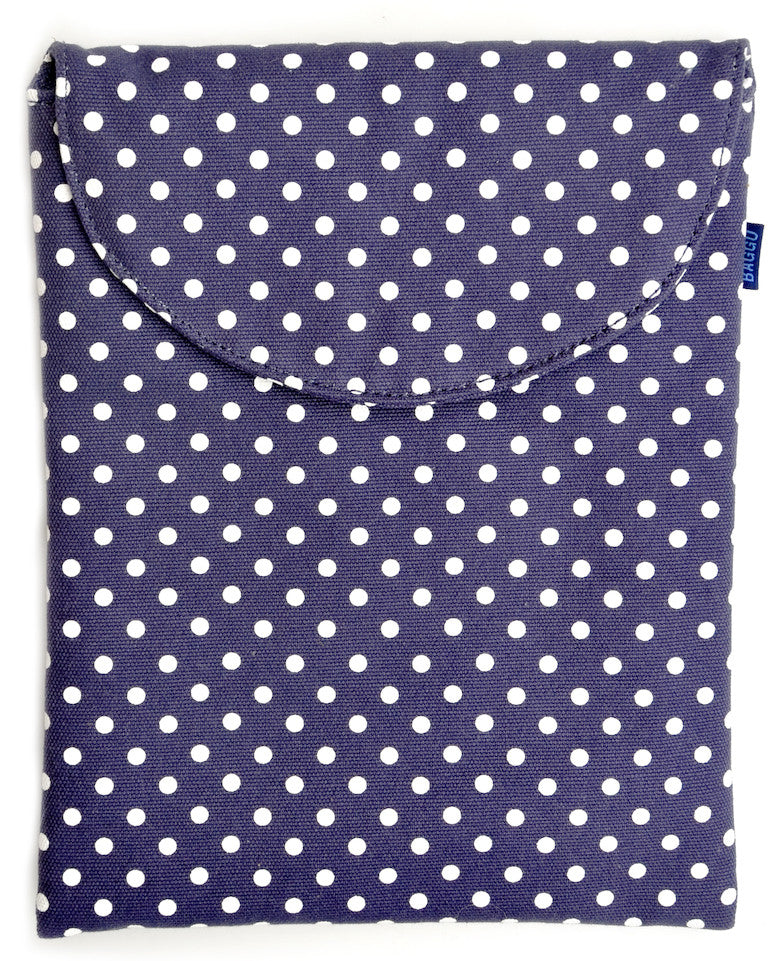 Navy Dot iPad Case - LEIF
