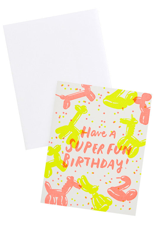 Balloon Animals Birthday Card - LEIF