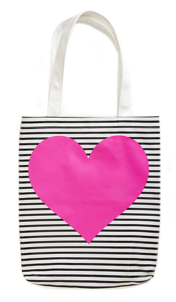 Neon Heart Canvas Tote - LEIF