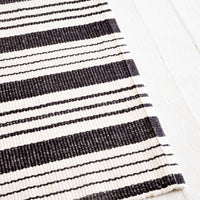 2: Bar Harbor Striped Cotton Rug in  - LEIF