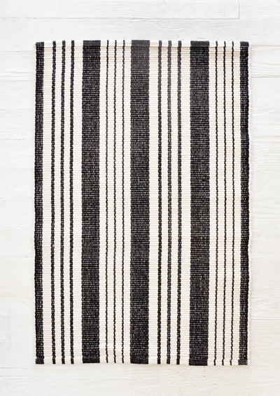 Bar Harbor Striped Cotton Rug in  - LEIF