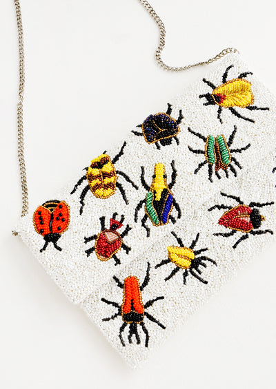 Beetles Beaded Clutch hover