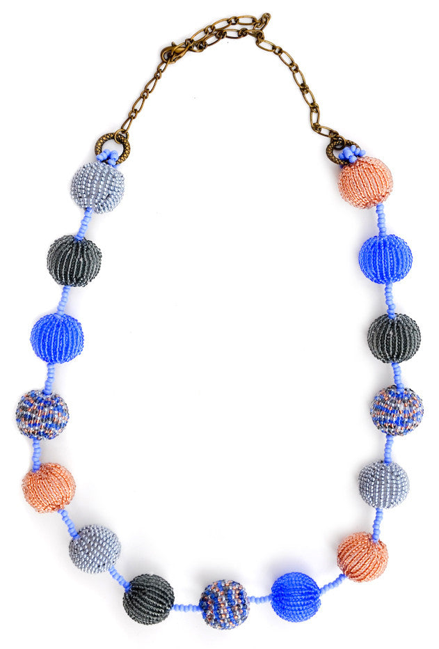 Garland Necklace in Denim - LEIF