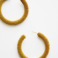 Solid Beaded Hoop Earrings