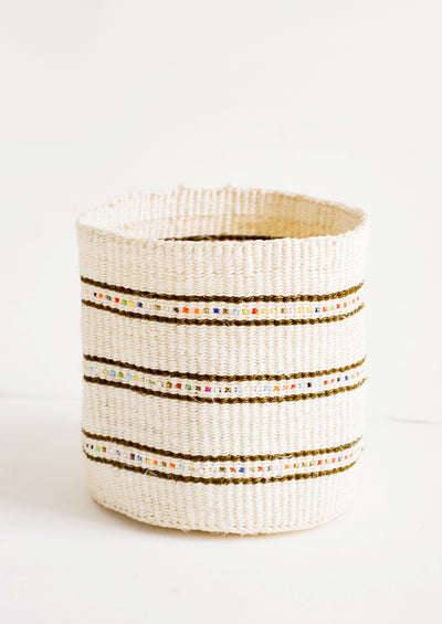 Beaded Stripe Catchall Basket hover