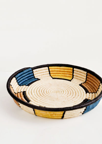 Beam Raffia Serving Tray