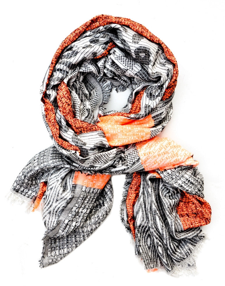Neon Mixed Texture Scarf - LEIF