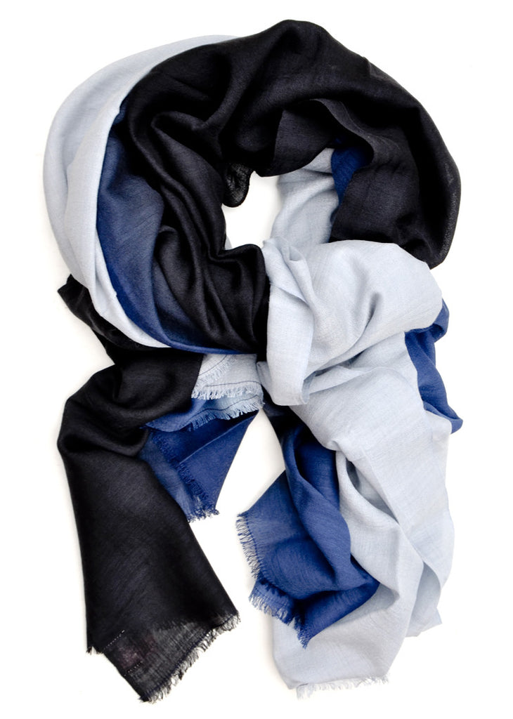 Faded Ombre Wool-Silk Scarf - LEIF