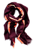 Embroidered Border Cotton Scarf - LEIF