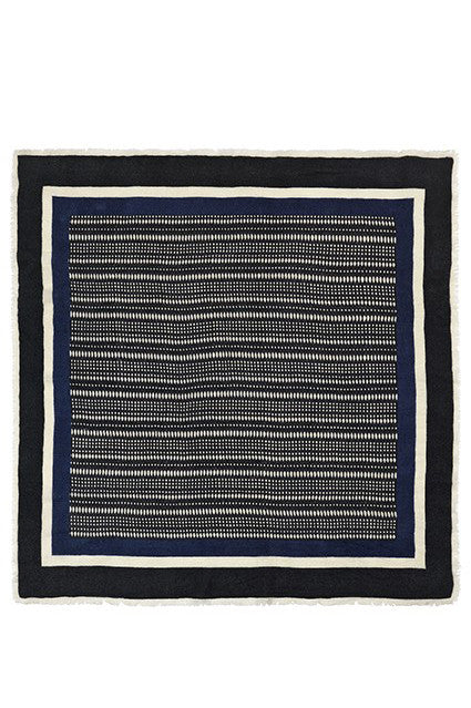 Framed Composition Wool Scarf