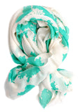 Sea Map Wool-Silk Scarf - LEIF