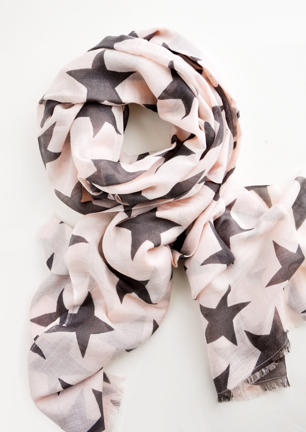 Rose / Slate: Starry Supernova Wool-Silk Scarf in Rose / Slate - LEIF