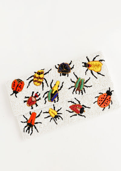Beetles Beaded Clutch