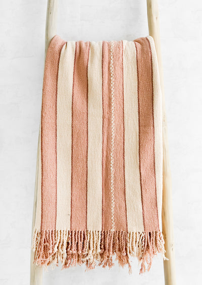 Sunset Natural Cotton Blanket hover