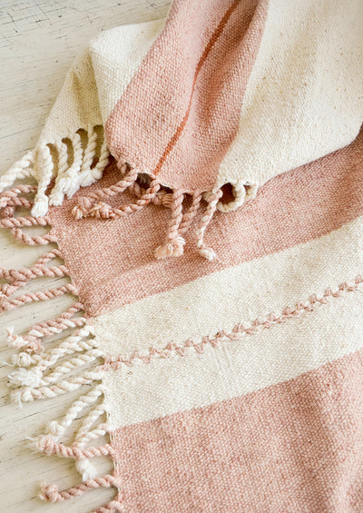 Sunset Natural Cotton Blanket