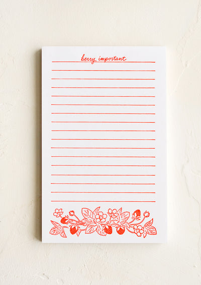 Berry Important Letterpress Notepad