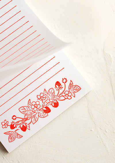 Berry Important Letterpress Notepad hover
