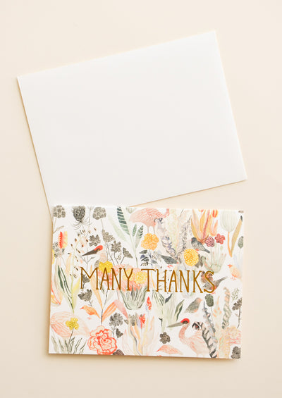Bird Garden Thank You Card