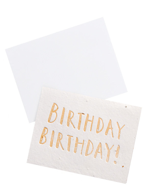 Birthday! Seed Paper Card - LEIF