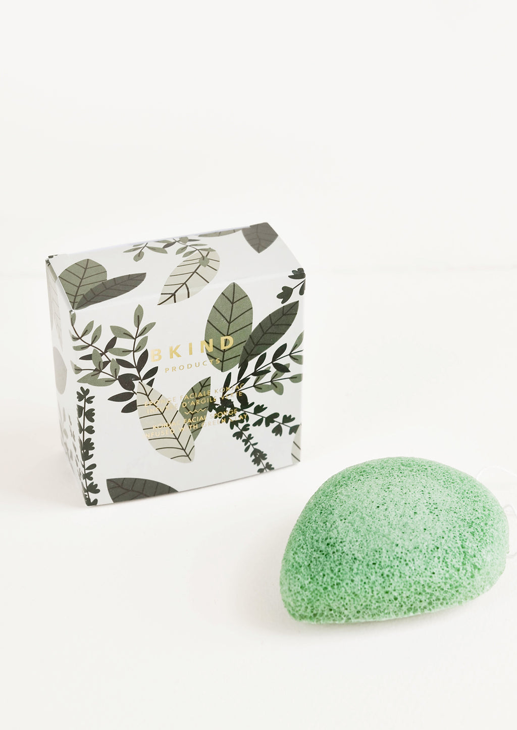 Green Clay: BKIND Konjac Facial Sponge in Green Clay - LEIF