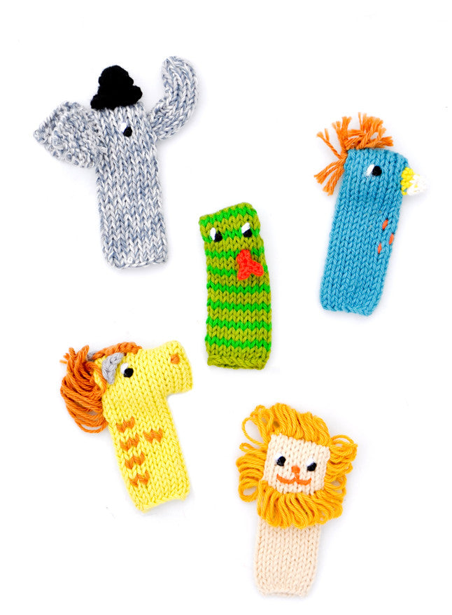 Knit Finger Puppet Set