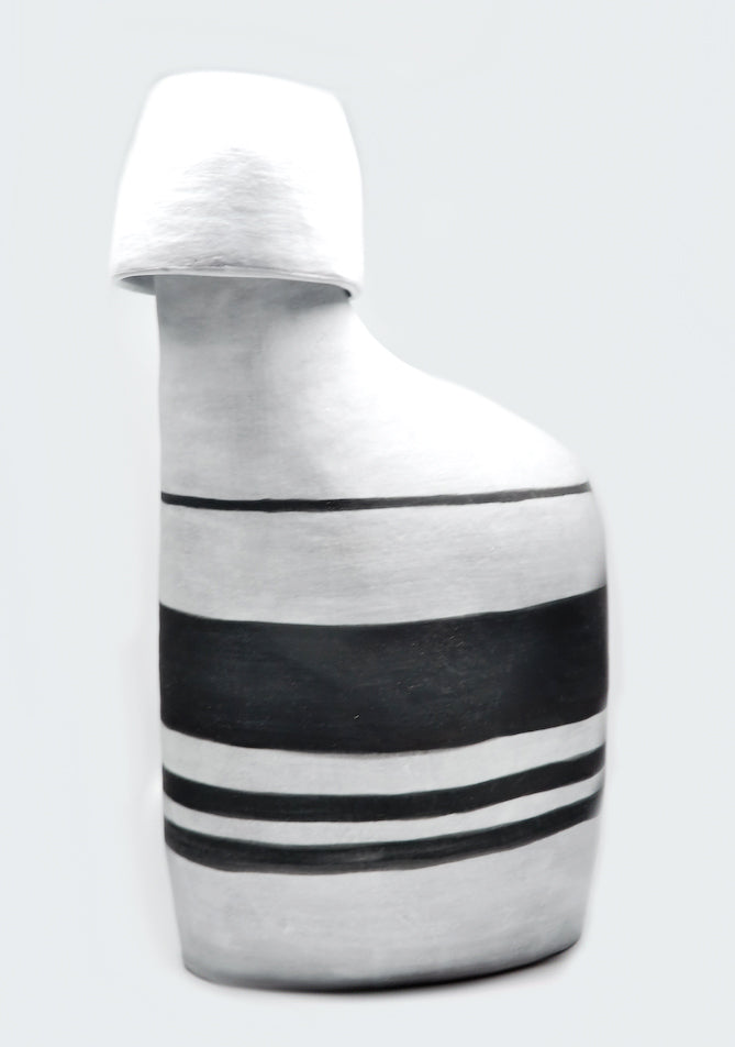 Black & White Stripe Decanter Set