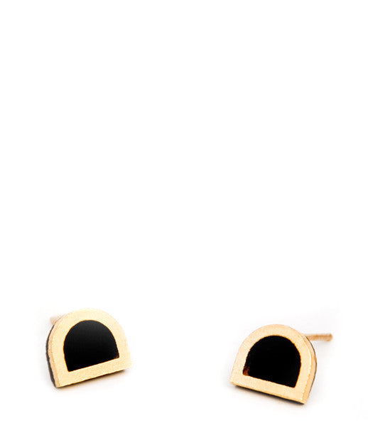 Suede Tab Stud Earrings - LEIF