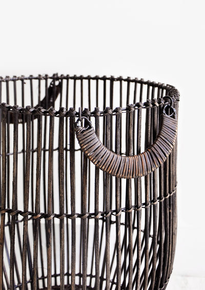 Blackened Reed Rattan Basket hover