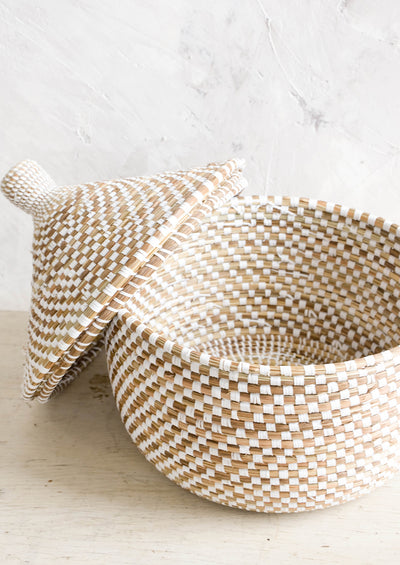 Blanca Lidded Sweetgrass Basket