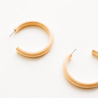 3: Bleached Maple Hoop Earrings in  - LEIF