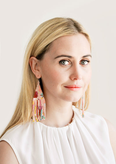 Bloom Beaded Earrings hover